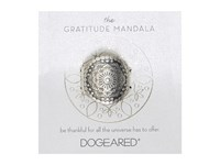 Dogeared Gratitude Mandala Center Flower Ring Sterling Silver Ring