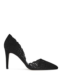 Reiss Dayton Lasercut D'orsay Court Pumps Black