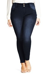 City Chic Plus Size Women's 'Asha' Stretch Skinny Jeans