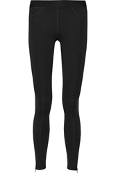 Rag And Bone Lawson Herringbone Jersey Leggings Black