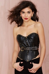 Nasty Gal Vintage Isaac Mizrahi Hold It Down Leather Bustier