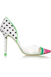 Sophia Webster Jessica Watermelon Patent Leather And Pvc Pumps White