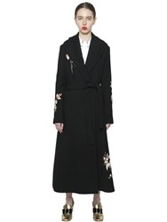 Vivetta Floral Embroidered Wool Coat