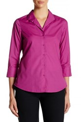 Foxcroft 3 4 Length Sleeve Shaped Fit Shirt Pink