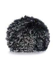 Saks Fifth Avenue Dyed Fox Fur Cap Grey