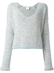 Forte Forte V Neck Jumper Grey