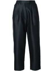 Isa Arfen Cropped Tapered Trousers Black
