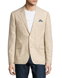 English Laundry Linen Two Button Blazer Sand