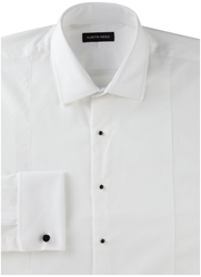Austin Reed Plain Classic Fit Long Sleeve Classic Collar Dres White