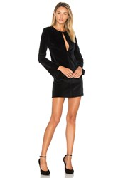 3X1 Bell Sleeve Velvet Dress Black