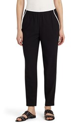 Lafayette 148 New York Women's Contrast Piping Track Pants Black