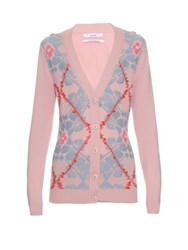 Barrie Smooth Ride Textured Knit Cardigan Pink Multi
