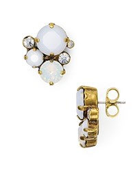 Sorrelli Crystal Stud Earrings Antique Gold