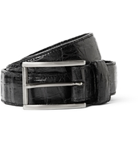 Santiago Gonzalez Black 3Cm Crocodile Belt