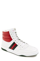 Men's Gucci 'Ronnie' High Top Sneaker White Red Green