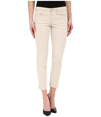 Calvin Klein Jeans Five Pocket Cropped Color Driver Jeans In Vanilla Ice Vanilla Ice Women's Jeans White