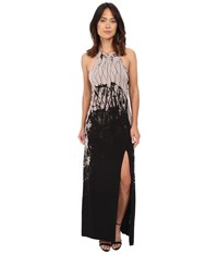 Gypsy05 Halter Maxi Dress With High Slit Black Natural Women's Dress