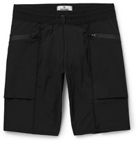 Reigning Champ Slim Fit Textured Stretch Shell Shorts Black
