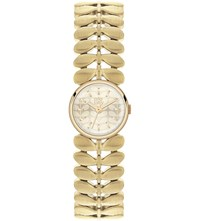Orla Kiely Laurel Stainless Steel Watch Champagne