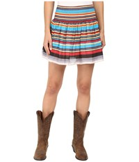 Rock And Roll Cowgirl Mini Skirt 69 7308 Red Women's Skirt
