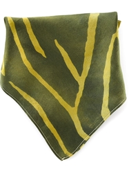 Kelly Wearstler 'Graffito' Pocket Square Green