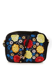 Topshop Leather Sequin Boxy Bag Multi