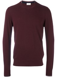 Moncler Crew Neck Jumper Pink And Purple