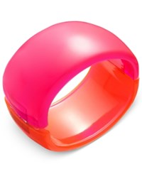 Inc International Concepts Colorblock Acrylic Bangle Bracelet Only At Macy's Pink Orange