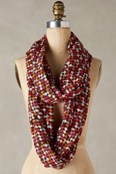 Anthropologie Houndstooth Infinity Scarf Orange