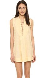 Free People Poppin Off Mini Dress Saffron Combo
