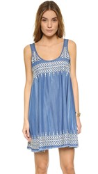 Plenty By Tracy Reese Embroidered Dress Chambray
