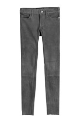 Current Elliott Suede Skinny Pants Grey