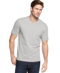 John Ashford V Neck T Shirt Light Grey Heather