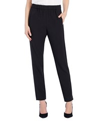 Ellen Tracy Solid Pull On Pants Black