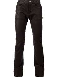 Drome Leather Slim Fit Trousers Black