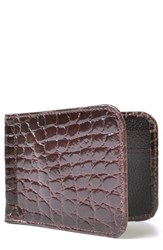 Men's Martin Dingman 'Joseph' Genuine American Alligator Leather Money Clip Wallet