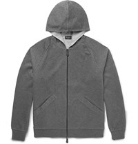 Berluti Double Faced Cotton Blend Jersey Hoodie Gray