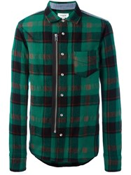 Coach Checked Shirt Green