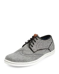 Ben Sherman Nick Wing Tip Lace Up Sneaker Black Chambray