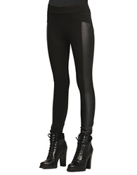 Bcbgeneration Seamed Faux Leather Panel Leggings Black