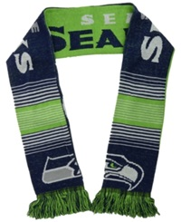 Forever Collectibles Seattle Seahawks Reversible Split Logo Scarf Navy