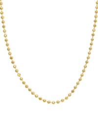 Macy's 14K Gold Necklace 16 20' Bead Chain