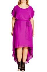 City Chic Plus Size Women's 'Dream Plain' High Low Maxi Dress