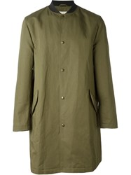 Maison Kitsune 'Ted' Raincoat Green