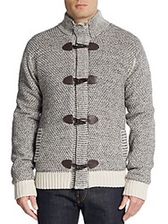 Buffalo David Bitton Weldon Toggle Sweater Heather Grey