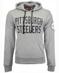 47 Brand '47 Men's Pittsburgh Steelers Crosscheck Hoodie Gray