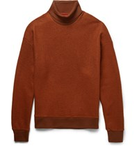 Wooyoungmi Two Tone Wool Blend Rollneck Sweater Orange