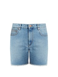 Etoile Isabel Marant Cedar Frayed Hem Denim Shorts Light Denim
