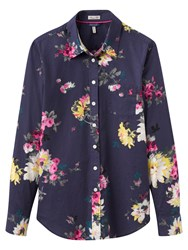 Joules Lucie Semi Fitted Printed Shirt French Navy Floral