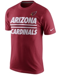 Nike Men's Arizona Cardinals Team Stripe T Shirt Red